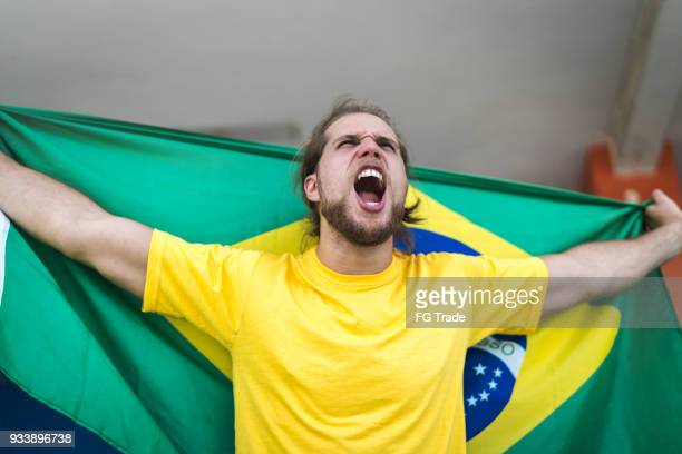 fã brasileiro assistindo um jogo de futebol - independência - fotografias e filmes do acervo