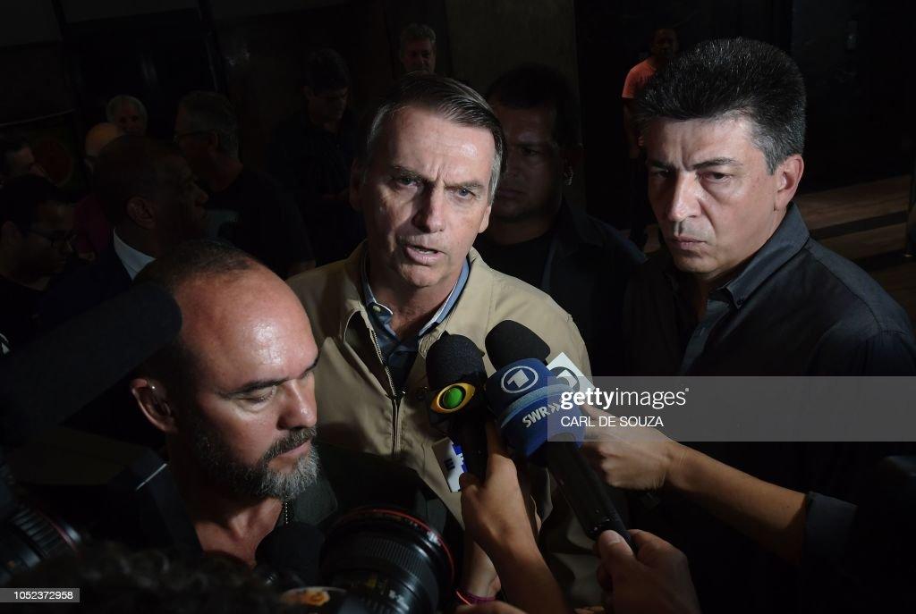 BRAZIL-ELECTION-RUNOFF-CAMPAIGN-BOLSONARO : News Photo