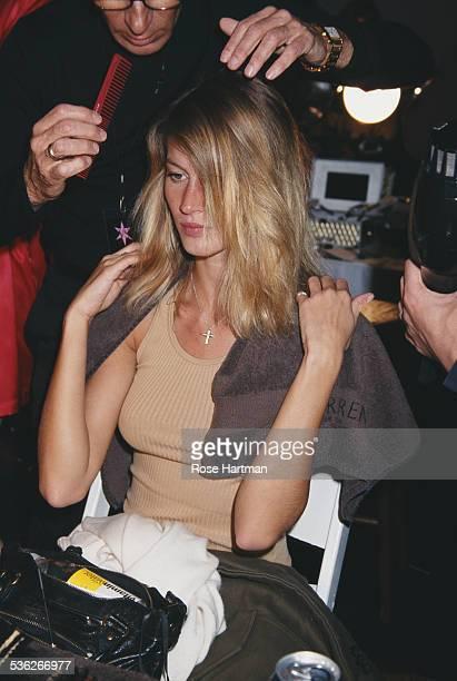 Brazilian fashion model Gisele Bündchen at the 7th annual Victoria's Secret fashion show Bryant Park New York City USA 2001