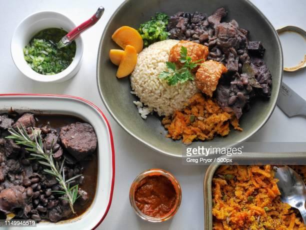brazilian feast - feijoada imagens e fotografias de stock