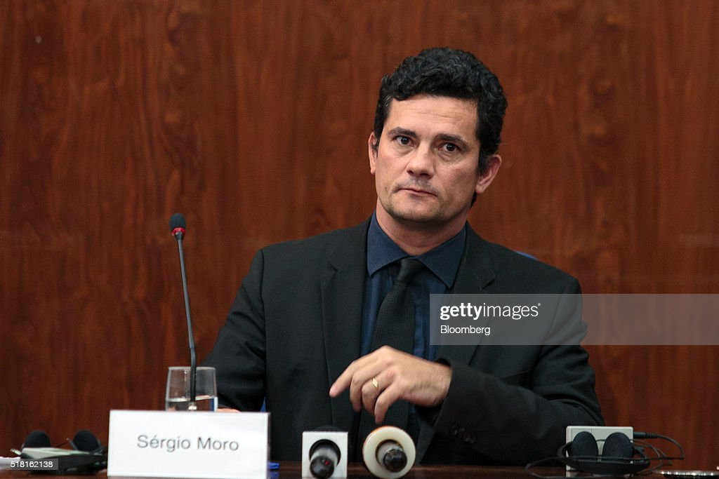 Sergio Moro, Judge In Brazilian Corruption Scandal Attends Lecture