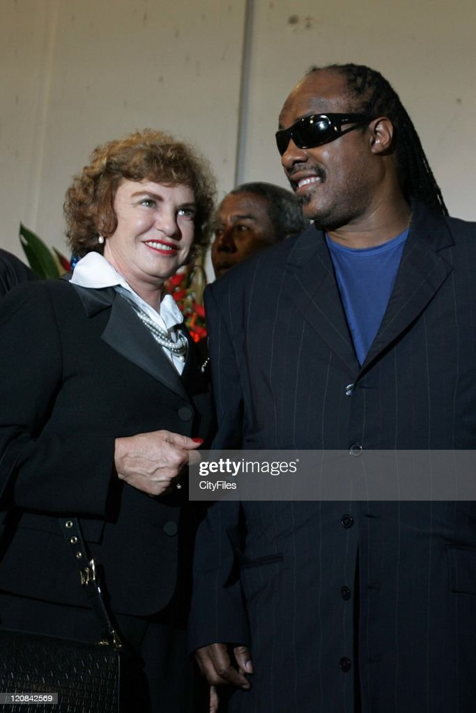 Stevie Wonder at Conference of Intellectuals of Africa and Brazil - July 12, 2006