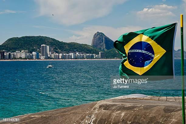 Brazilian Flag in Copacabana