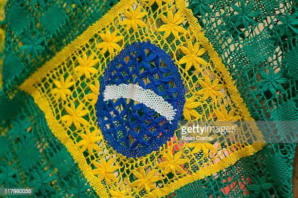 Brazilian flag lace