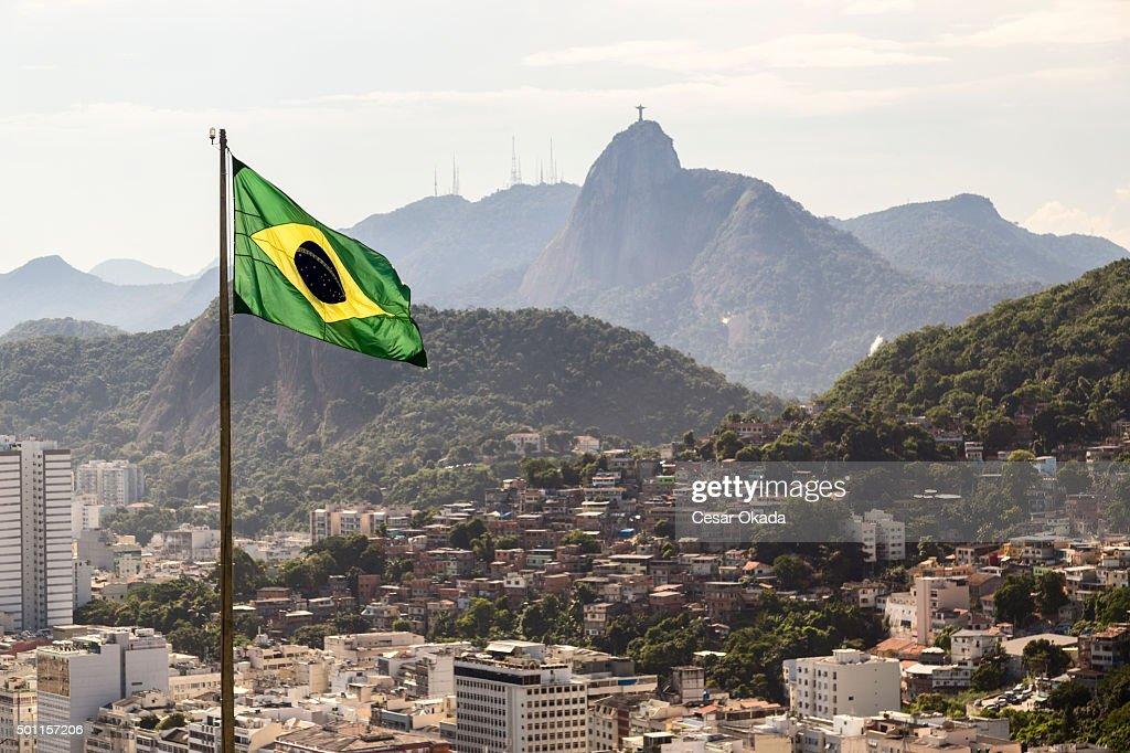 Bandiera del Brasile : Foto stock