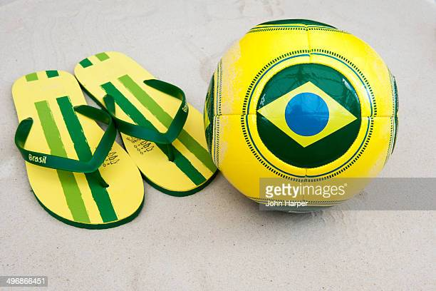 Brazilian football and flip flops