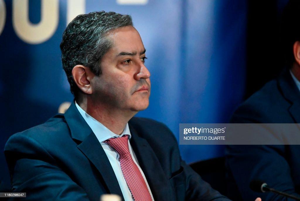 FBL-CONMEBOL-LIBERTADOES-FINAL-PRESSER : News Photo