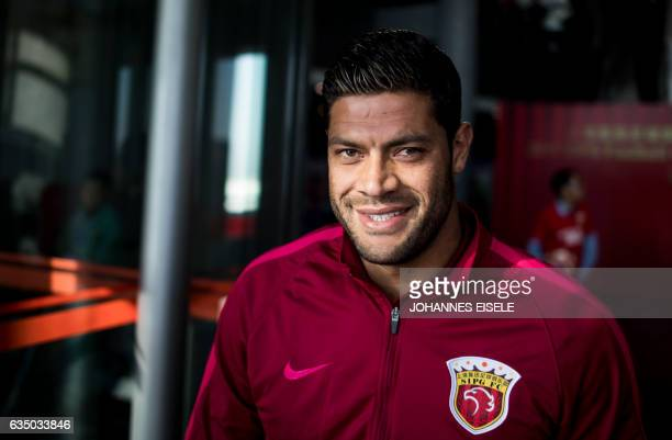 Brazilian football player Hulk of Shanghai SIPG poses for a portrait during a season launch event in Shanghai on February 13 2017 / AFP / Johannes...