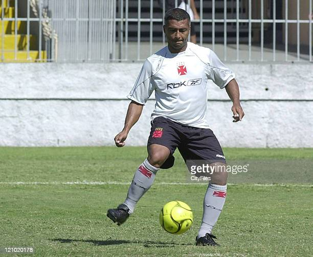 Brazilian football player Romario practicing with Team Vasco in Rio de Janeiro Brazil on March 30 2007 Expectations are focused on Romario reaching...