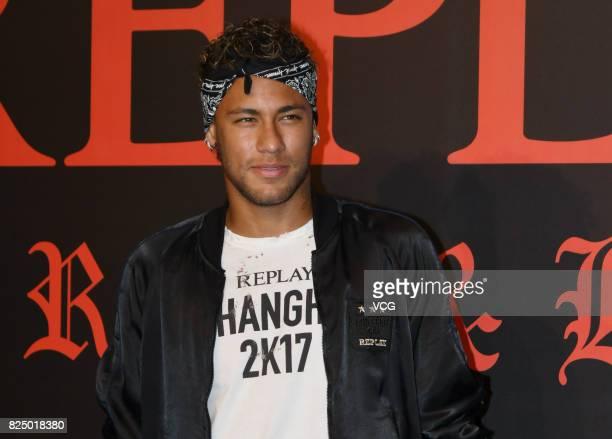 Brazilian footballer Neymar attends Replay fashion show on July 31 2017 in Shanghai China
