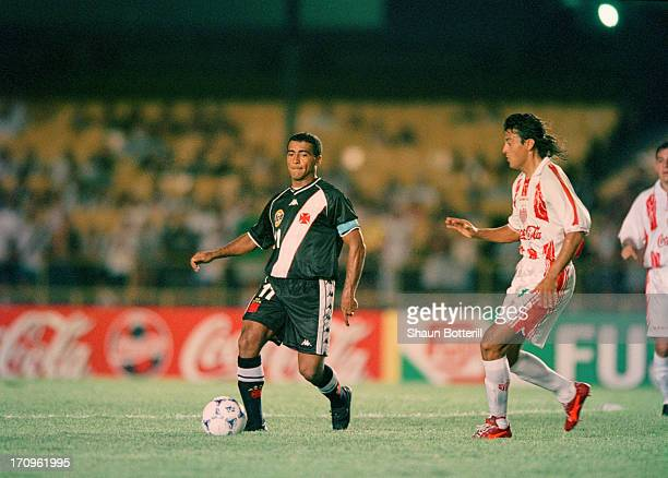 Brazilian footballer Romario of Vasco da Gama during a World Club Championship first stage match against Necaxa at the Maracana Stadium Rio de...