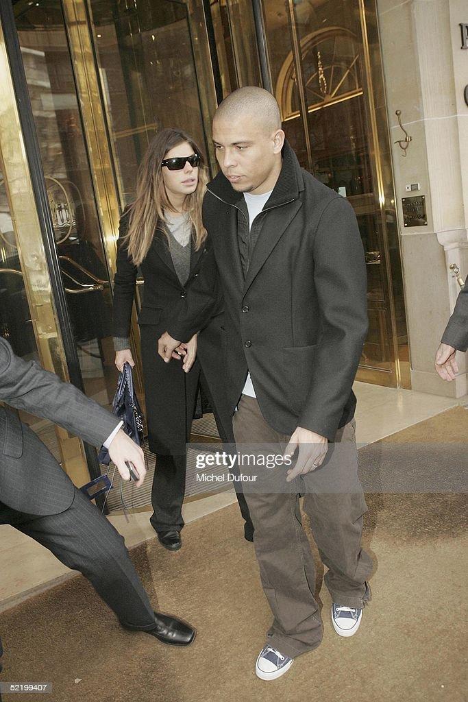Ronaldo & Daniela Cicarelli - Engagement Party : News Photo