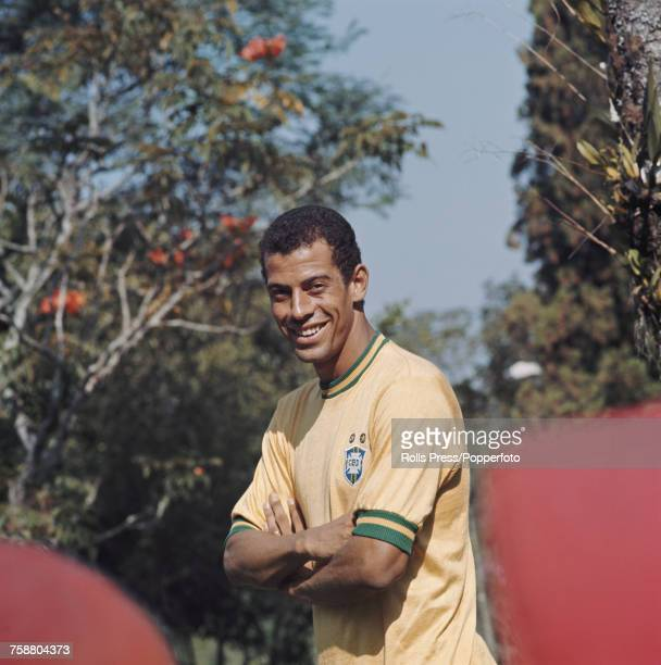 Brazilian footballer Santos player and defender with the Brazil national team Carlos Alberto Torres posed circa 1971