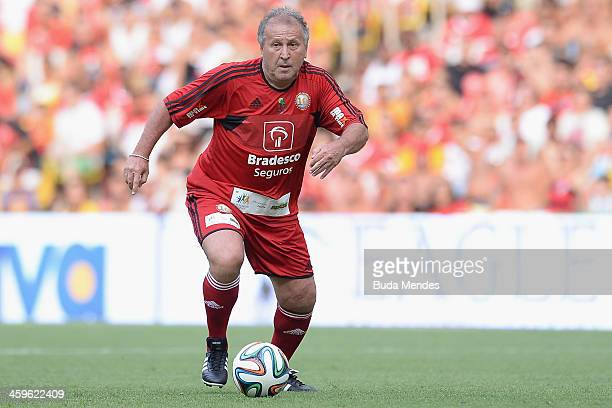 Brazilian former football star Zico in action during a charity football match organized by former Brazilian national team player Zico at Maracana...