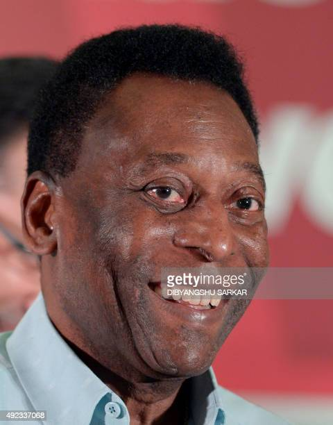 Brazilian former footballer Pele attends a press conference in Kolkata on October 12 2015 The football legend is on a threeday visit to the city AFP...