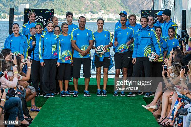 Brazilian former world champions players Juliano Belleti and Cafu synchronized swimming athletes Bia and Branca Feres and Brazilian TV presenter and...