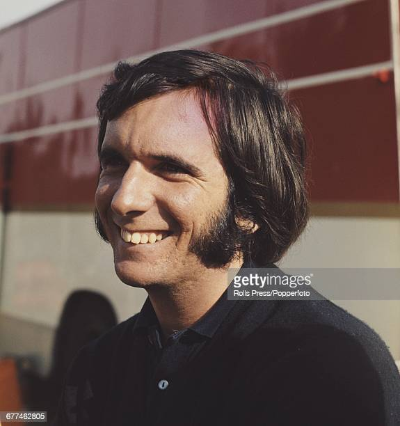 Brazilian Formula 1 racing driver Emerson Fittipaldi pictured at Brands Hatch motor racing circuit to drive for Team Lotus in the 1971 Race of...