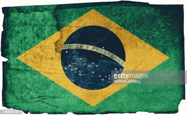 brazilian grunge flag - insignia stock pictures, royalty-free photos & images
