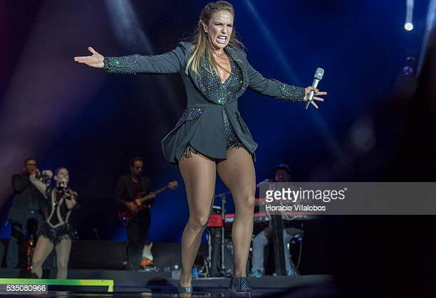 Brazilian Ivete Sangalo performs on the fourth day of Rock in Rio Lisbon on May 28 2016 in Lisbon Portugal