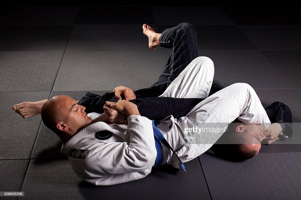 Brazilian jiu-jitsu martial arts : Stock Photo
