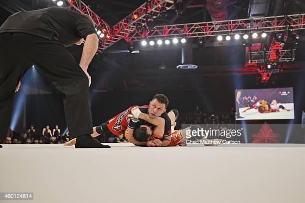 Metamoris V Brazil Renzo Gracie in action vs Japan Kazushi Sakuraba during fight at Long Beach Convention Center Long Beach CA CREDIT Chad Matthew...