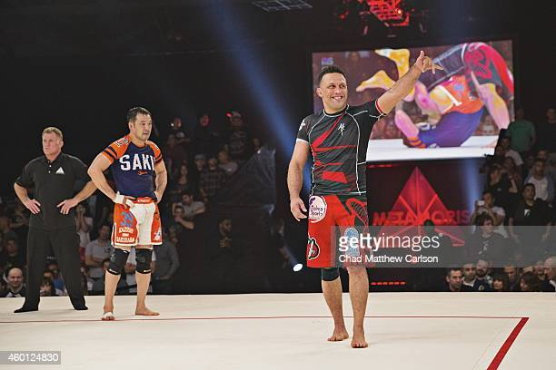 Metamoris V Brazil Renzo Gracie victorious after fight vs Japan Kazushi Sakuraba at Long Beach Convention Center Draw Long Beach CA CREDIT Chad...