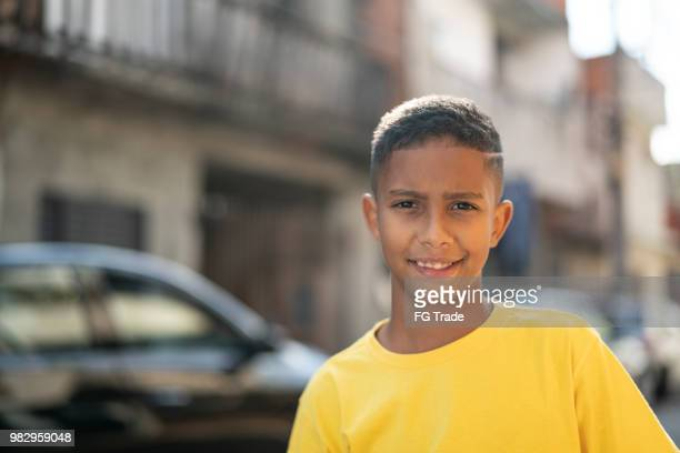 brazilian kid portrait at favela - budding tween stock photos and pictures