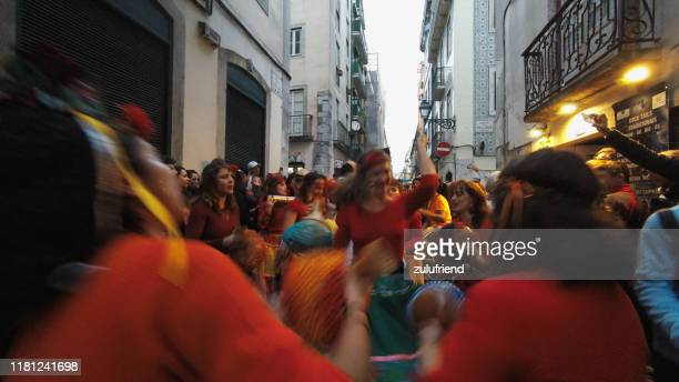 brazilian maracatu in lisbon - cultura brasileira imagens e fotografias de stock