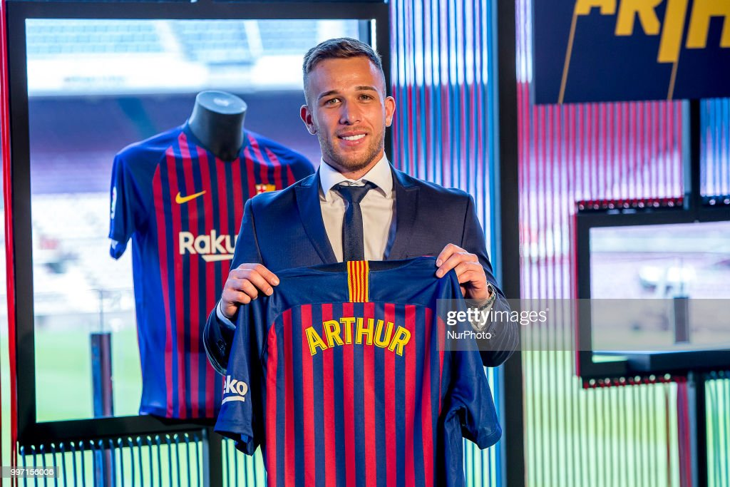 Barcelona sign Brazilian midfielder Arthur Melo : News Photo
