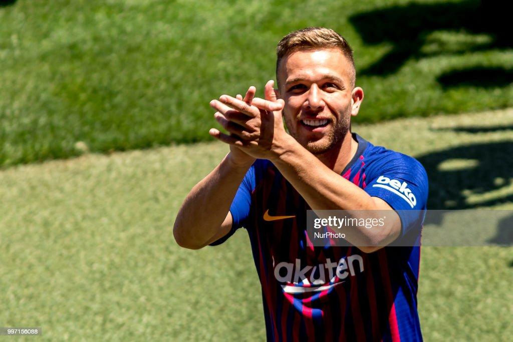 Barcelona sign Brazilian midfielder Arthur Melo : News Photo