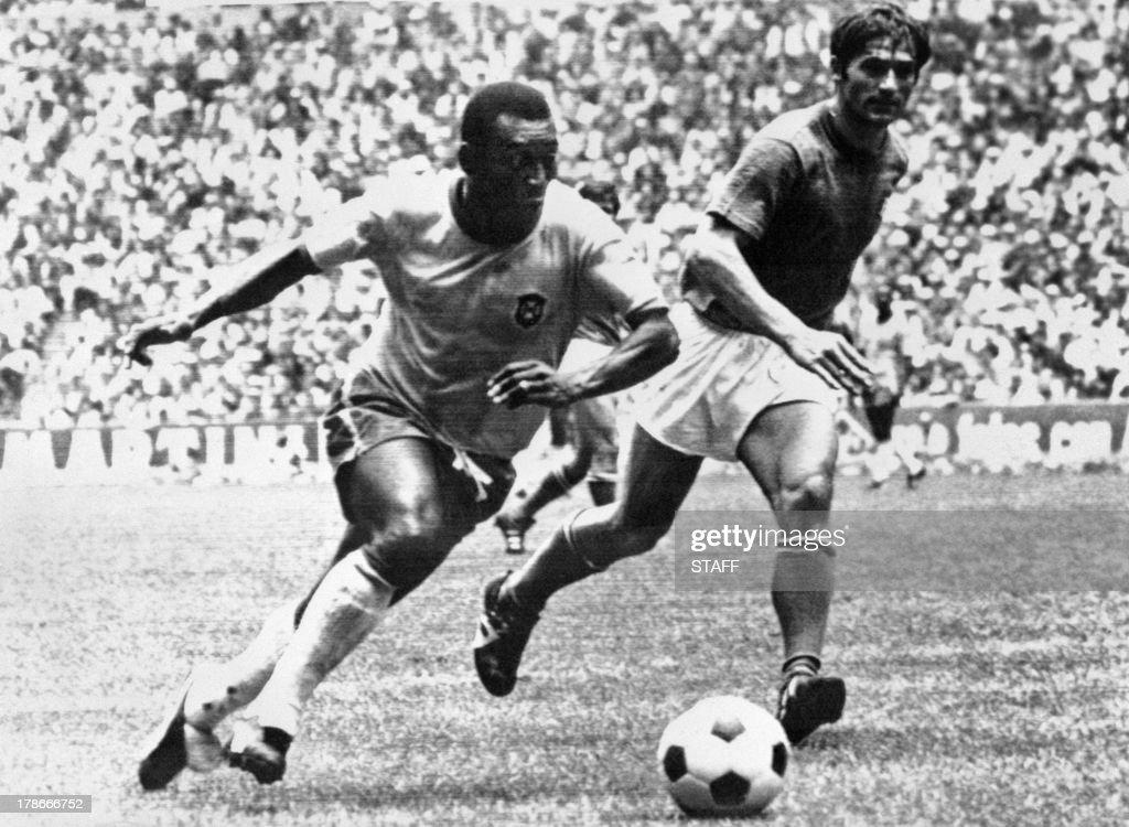FOOTBALL-WORLD-CUP-1970-BRASIL-ITALY : News Photo