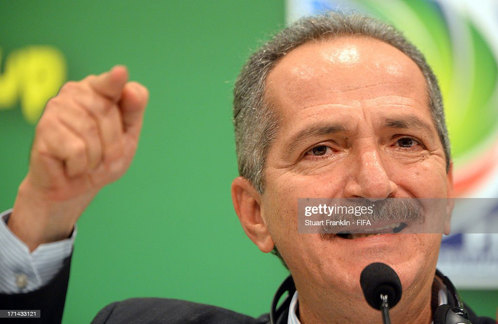 Brazilian minister of sport, Aldo Rebelo talks with the media during the FIFA media briefing and 2014 host city event at Maracana on June 24, 2013 in Rio de Janeiro, Brazil.