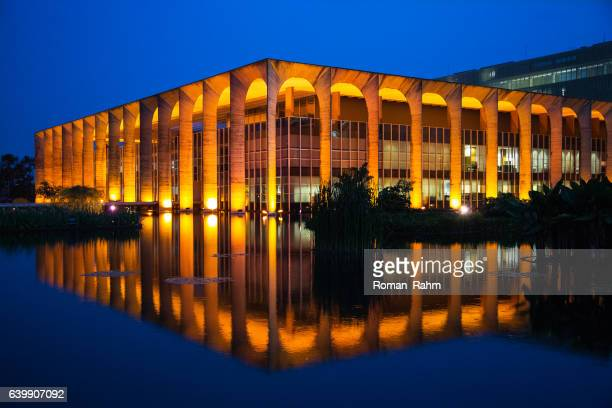 brazilian ministry of external relations, itamaraty palace, brasilia, brazil - distrito federal brasilia stock pictures, royalty-free photos & images