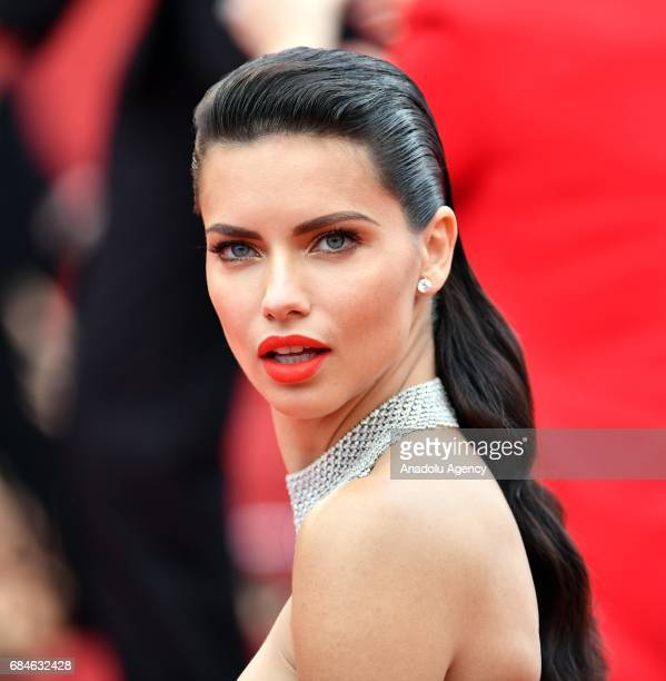 Brazilian model Adriana Lima arrives for the screening of the film 'Nelyubov' in competition at the 70th annual Cannes Film Festival in Cannes France...