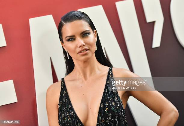 Brazilian model Adriana Lima attends the World Premiere of OCEANS 8 June 5 2018 in New York OCEANS 8 will be released nationwide on June 8 2018