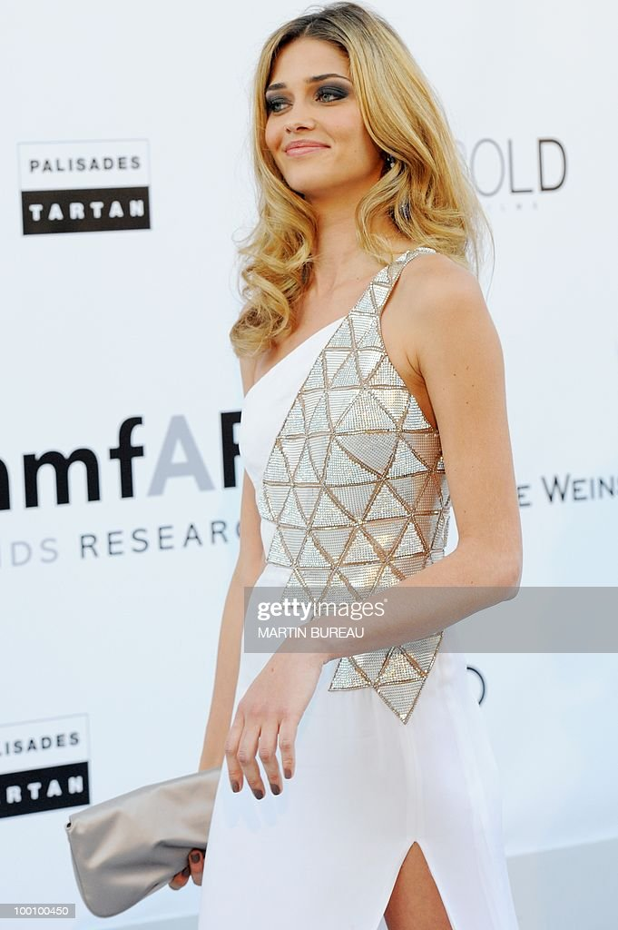 Brazilian model Ana Beatriz Barros arrives at amfAR's Cinema Against Aids 2010 benefit gala on May 20, 2010 in Antibes, southeastern France.