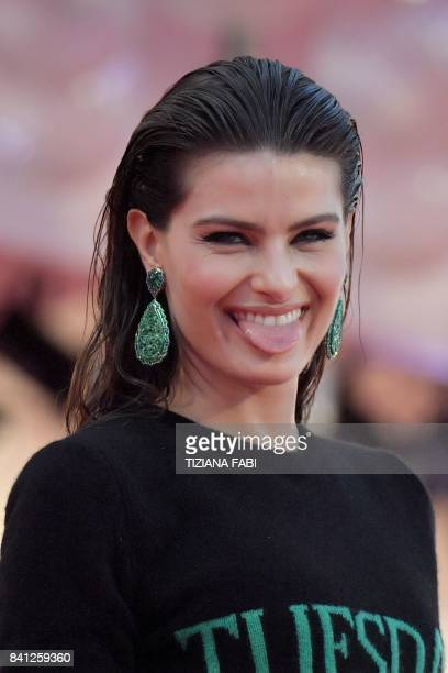 Brazilian model Isabeli Fontana arrives at the premiere of the movie 'The Shape of Water' presented in competition 'Venezia 74' at the 74th Venice...