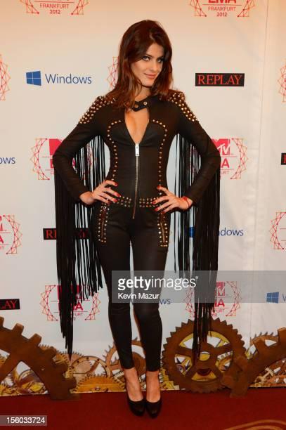 Brazilian model Isabeli Fontana attends the MTV EMA's 2012 at Festhalle Frankfurt on November 11 2012 in Frankfurt am Main Germany