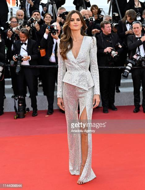 Brazilian model Izabel Goulart arrives for the screening of the film 'Rocketman' during the 72nd annual Cannes Film Festival in Cannes France on May...