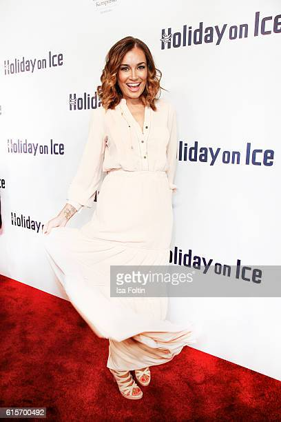Brazilian model Jana Ina Zarrella attends the 'Holiday on Ice' gala at Hotel Atlantic on October 19 2016 in Hamburg Germany