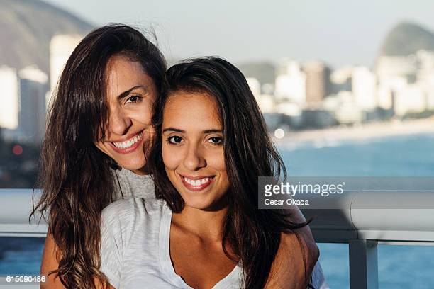 Brazilian mother and daughter