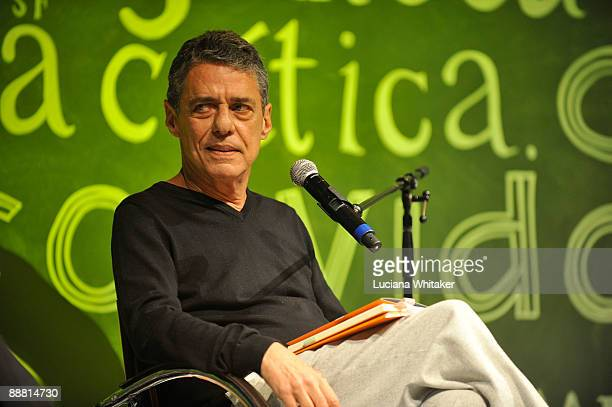 Brazilian musician and author Chico Buarque during the talk 'Scenes From a Brazilian Minuet' as part of the third day of the Paraty International...