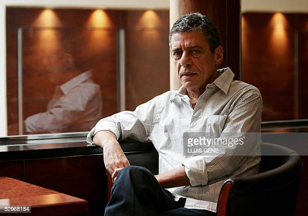 Brazilian musician and writer Chico Buarque poses during the presentation of his third book 'Budapest' 23 May 2005 in Barcelona The author's latest...