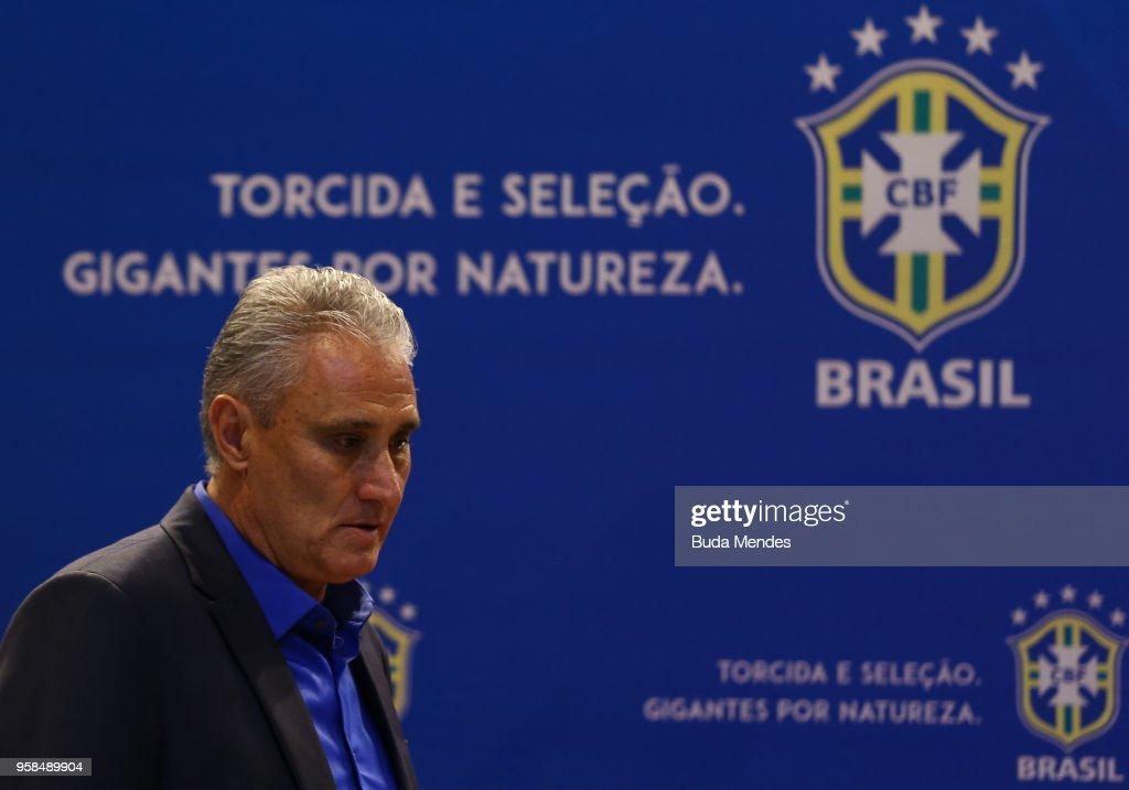 Tite Announces Brazilian Squad for 2018 FIFA World Cup Russia - Press Conference : News Photo