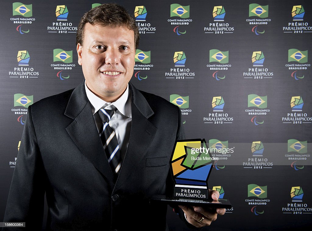 Brazilian Paralympic coach Alessandro Tosim pose for a photo during the ceremony of Brazil Paralympics Award 2012 at the Marina da Gloria on December 19, 2012 in Rio de Janeiro, Brazil.