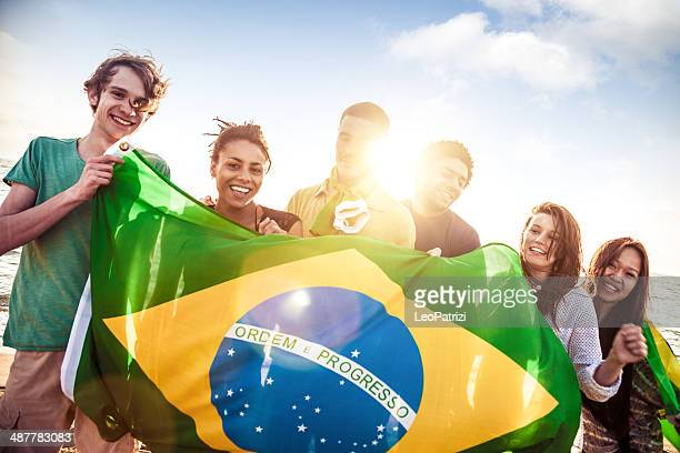 Brazilian people on the beach
