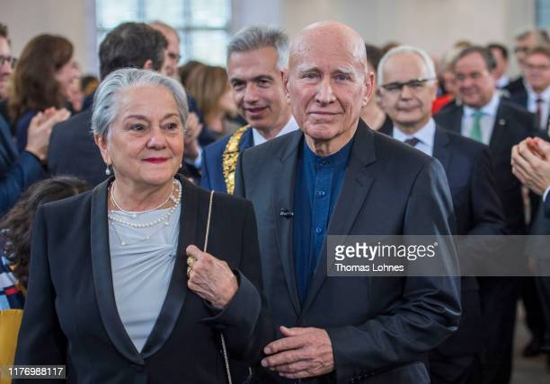 Brazilian photographer Sebastiao Salgado and his wife Lelia arrive for award ceremony of the Peace Prize of the German Book Trade at St. Paul's...