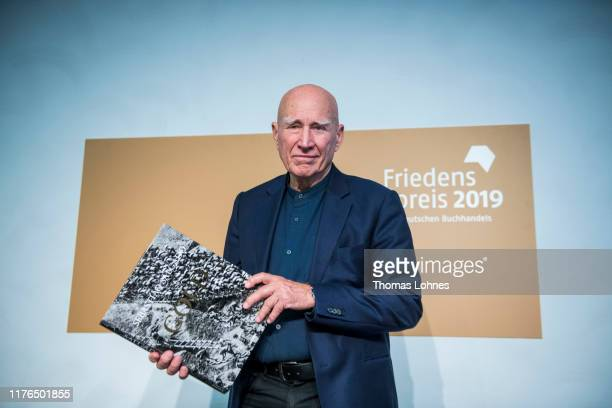Brazilian photographer Sebastiao Salgado pictured at the press conference for receiving the Peace Prize Of The German Book Trade on October 18, 2019...