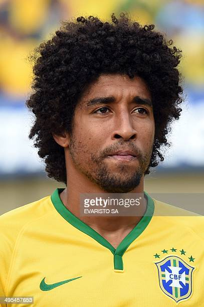 Brazilian player Dante before a friendly football match between Panama as preparation for FIFA World Cup Brazil 2014 at Serra Dourada Stadium in...
