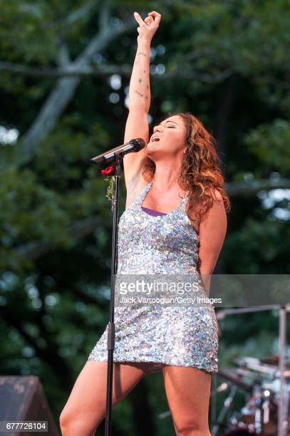 Brazilian Pop singer Maria Rita performs onstage during the annual CineFest Brasil concert and film program at Central Park SummerStage New York New...